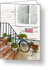 Back Step Greeting Card by Nancy Patterson