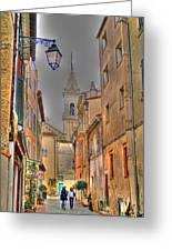 Back Streets Of Sanary Greeting Card by Rod Jones