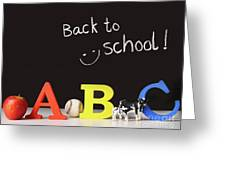 Back To School Concept With Abc Letters Greeting Card by Sandra Cunningham
