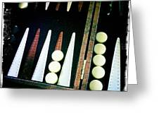 Backgammon Anyone Greeting Card by Nina Prommer