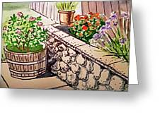 Backyard Sketchbook Project Down My Street Greeting Card by Irina Sztukowski