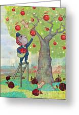 Bad Apples Good Apples Greeting Card by Dennis Wunsch