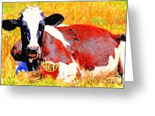 Bad Cow . 7d1279 Greeting Card by Wingsdomain Art and Photography