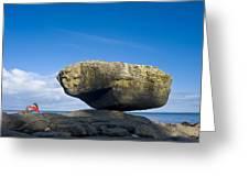 Balance Rock, British Columbia Greeting Card by David Nunuk