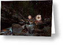 Ball Of Light Geneva Creek Greeting Card by Richard Steinberger