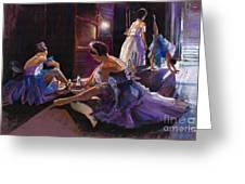 Ballet Behind The Scenes Greeting Card by Yuriy  Shevchuk