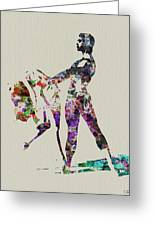 Ballet Dance Greeting Card by Naxart Studio