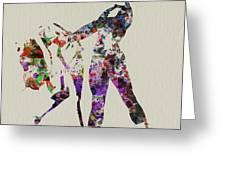Ballet Dance Greeting Card by Naxart Studio
