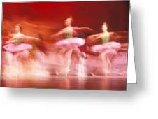 Ballet dancers Greeting Card by John Wong