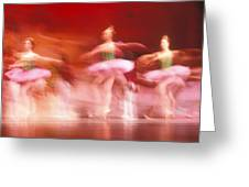 Ballet Dancers Greeting Card by John Wong