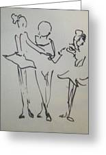 Ballet In The Park Greeting Card by James Christiansen