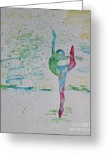 Ballet Pointe 2 Greeting Card by Carolyn Weir