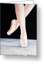 Ballet Shoes Greeting Card by Julie Kraft