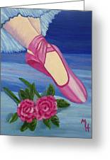 Ballet Toe Shoes For Madison Greeting Card by Margaret Harmon