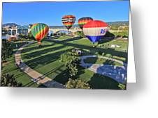 Balloons In Coolidge Park Greeting Card by Tom and Pat Cory