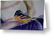 Baltimore Orioles Greeting Card by AE Hansen