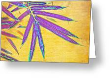 Bamboo Batik II Greeting Card by Judi Bagwell