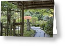 Bamboo Gate And Traditional Arch Greeting Card by Douglas Orton