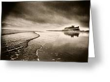 Bamburgh Castle Greeting Card by Simon Marsden