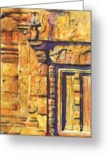Banteay Srei Doorway Greeting Card by Ryan Fox