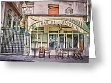 Bar De L'entracte Greeting Card by Stephanie Benjamin