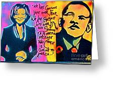 Barack And Michelle Greeting Card by Tony B Conscious