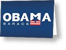 Barack Obama Greeting Card by Darren Burroughs