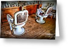 Barber - The Barber Shop 2 Greeting Card by Paul Ward