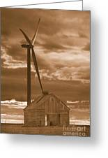 Barn And Windmill 2 Greeting Card by Jim Wright