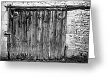 Barn Door Greeting Card by Georgia Fowler