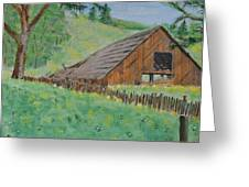 Barn On Hiway 20 Greeting Card by Mick Anderson