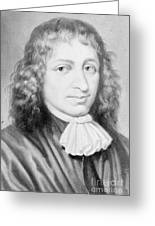 Baruch Spinoza, Jewish-dutch Philosopher Greeting Card by Photo Researchers