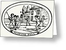 Baseball Game, 1820 Greeting Card by Granger