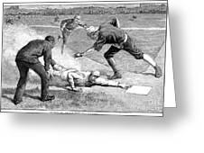 Baseball Game, 1885 Greeting Card by Granger