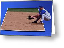 Baseball Hot Grounder Greeting Card by Thomas Woolworth