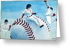 Baseball Greeting Card by Jessica Grace Leahy