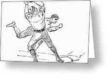 Baseball Players, 1889 Greeting Card by Granger