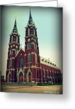 Basilica Of St.francis Xavier In Dyersville Iowa Greeting Card by Susanne Van Hulst