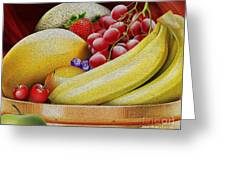 Basket Of Fruit Greeting Card by Cheryl Young