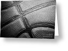 Basketball -Black and White Greeting Card by Ben Haslam