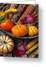Basketful Of Autumn Greeting Card by Garry Gay