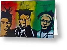 Basquait Me Myself And I Greeting Card by Tony B Conscious