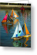 Bateaux Jouets Greeting Card by Bronze Riser