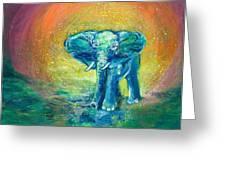 Bathe Me In Thy Light Greeting Card by Ashleigh Dyan Bayer