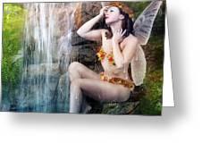Bathing Berries Greeting Card by Karen K