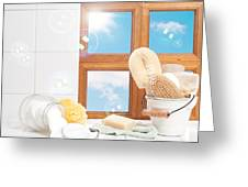 Bathroom Interior Still Life Greeting Card by Amanda And Christopher Elwell