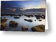 Bathtub Beach Sunrise Greeting Card by Tracy Welker