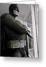 Batman Is Contemplating World Peace Greeting Card by Nina Prommer