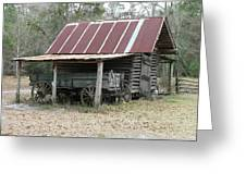 Battered Barn And Weathered Wagon Greeting Card by Al Powell Photography USA