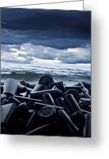 Batteries Polluting The Environment Greeting Card by Richard Kail
